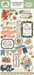 Flora No 2 Chipboard Accents - Carta Bella