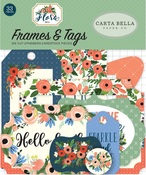 Flora No 2 Tags & Frames - Carta Bella