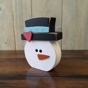 January Snowman Wood Decor Kit