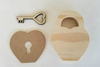 February Lock & Key Wood Decor Kit