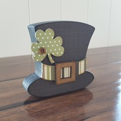 March Leprechaun Hat Wood Decor Kit