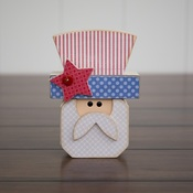 July Uncle Sam Wood Decor Kit