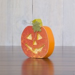 October Jack-O-Lantern Wood Decor Kit