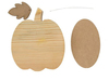 November Pumpkin Wood Decor Kit