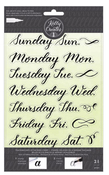 Days Of The Week Traceable Clear Stamps - Kelly Creates