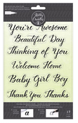 Sentiment Traceable Clear Stamps - Kelly Creates