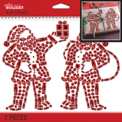 Bling Santa Silhouettes - Jolee's Boutique Dimensional Stickers