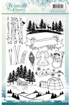 """Winter Classics - Find It Trading Jeanine's Art Clear Stamps 6""""X8.25"""""""
