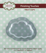 """Clear 2.5"""" Wide X 1.75"""" Height - Creative Expressions Cloud Treat Cups 6/Pkg"""