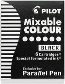 Black Ink - Pilot Parallel Refill Cartridge 6/Pkg