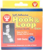 """.625"""" - Hook And Loop Self-Adhesive Coins 100/Pkg"""