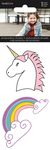 Unicorn & Rainbow Embroidered Stickers 2/Pkg