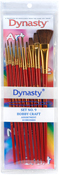 Hobby & Craft Assortment 10/Pkg - Dynasty Craft & Hobby Brush Sets