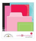 Love Assortment Cards & Envelopes - So Punny - Doodlebug
