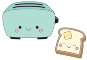 Toaster Time Collectible Pin - Doodlebug