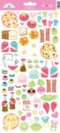 So Punny Food Icon Stickers - Doodlebug
