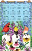 Birds On Fence - Design Works 2019 Calendar Felt Applique Kit