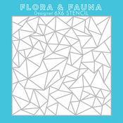 "Artic - Flora & Fauna 6""X6"" Stencil"