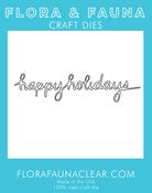 Happy Holidays - Flora & Fauna Dies