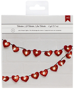 Red Glitter - Valentine Heart Light String 4yd