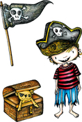 Nice Pirate - Carabelle Studio Cling Stamp A6 By La Rafistolerie