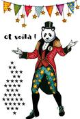 Mr Panda - Carabelle Studio Cling Stamp A6