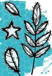 Falling Leaves - Carabelle Studio Cling Stamp A6 By Birgit Koopsen