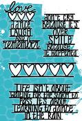 Smile, Love & Dancing - Carabelle Studio Cling Stamp A6 By Birgit Koopsen