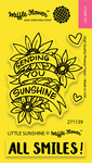 """Little Sunshine - Waffle Flower Crafts Clear Stamps 2""""X3"""""""