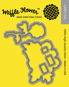 Stitched Peonies - Waffle Flower Die