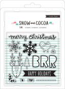 Snowflakes, Animals, Words - Snow & Cocoa Clear Stamps 14/Pkg