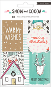 Decor Tags W/Holiday & Winter Graphics - Snow & Cocoa Cardstock Tags 12/Pkg