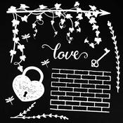"Love White - 49 & Market Archival Chipboard 6""x6"""