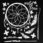 """Wild & Free White - 49 & Market Archival Chipboard 6""""x6"""""""
