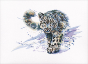 "Snow Leopard (16 Count) - RTO Counted Cross Stitch Kit 14.25""X9"""