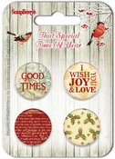 No.2-1 - ScrapBerry's That Special Time Of Year Embellishments 4/Pkg