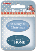 #1 Word Plates - ScrapBerry's Once Upon A Winter Metal Embellishments 2/Pkg