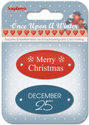 #3 Word Plates - ScrapBerry's Once Upon A Winter Metal Embellishments 2/Pkg