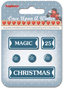 #3: Magic, 25, Christmas & Snowflakes - ScrapBerry's Once Upon A Winter Metal Words & Icons