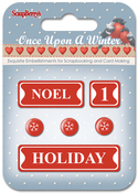 #4: Noel, 1, Holiday & Snowflakes - ScrapBerry's Once Upon A Winter Metal Words & Icons