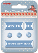 #8: Winter, Happy New Year & Snowflakes - ScrapBerry's Once Upon A Winter Metal Words & Icons