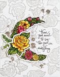 Good Vibes-Moon Flower - Spellbinders Stamp & Die Set By Stephanie Low