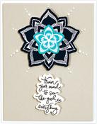Good Vibes-Dot Mandala - Spellbinders Stamp & Die Set By Stephanie Low