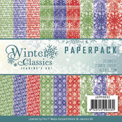 "Winter Classics, Double-Sided Designs - Find It Jeanine's Art Paper Pack 6""X6"" 23/Pkg"