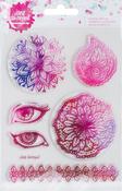 "6/Pkg - Jane Davenport Mixed Media 2 Acrylic Stamps 4.5""x7"""