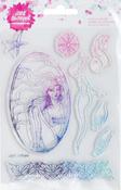 "8/Pkg - Jane Davenport Mixed Media 2 Acrylic Stamps 4.5""X7"""