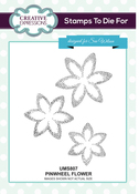 Pinwheel Flower - Creative Expressions Stamps To Dies For By Sue Wilson