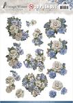 Winter Flowers - Find It Amy Design Vintage Winter Punchout Sheet