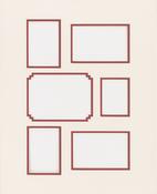 "Linen W/Redwood - Photo Mat 16""X20"" Double W/Multiple Openings"