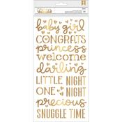 Gold Foil Girl Thickers - Night Night - Pebbles